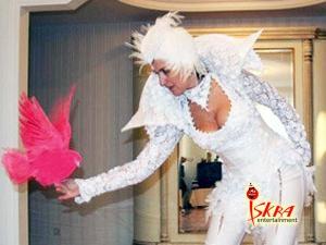 Шоу розовых голубей